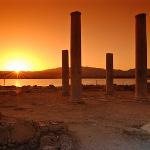 Tramonto nel sito archelogico de Nora